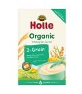 Βιολογική Παιδική Κρέμα με Ρύζι, Καλαμπόκι & Κεχρί (3corn) 250γρ. Bio, Holle