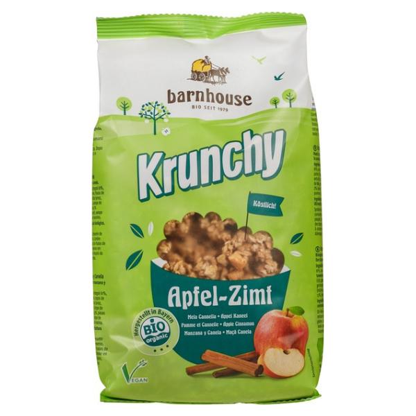 Βιολογικό Μούσλι Crunchy Μήλο- Κανέλα, 375 γρ., Bio, Barnhouse