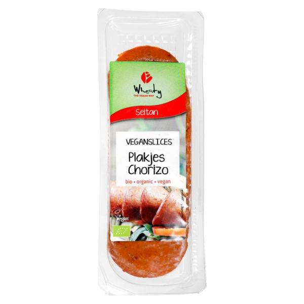 Βιολογικό Φυτικό Σαλάμι σε Φέτες Chorizo, 80 γρ., Bio, Wheaty