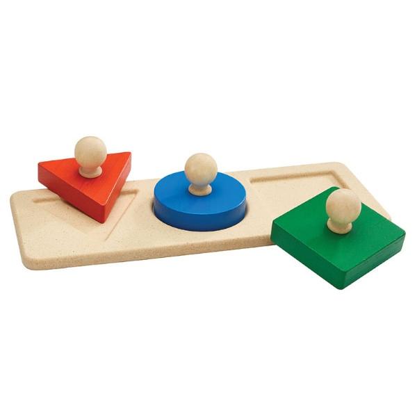 Πάζλ με Σχήματα, Plantoys, Ξύλινο, Οικολογικό, Εκπαιδευτικό, Παιχνίδι