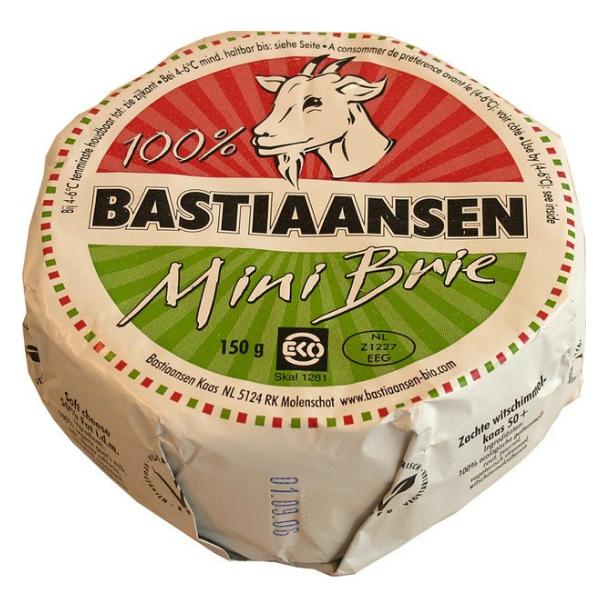 Βιολογικό Τύρι Brie Κατσικίσιο Mini, 150 γρ., Bio, Bastiaansen