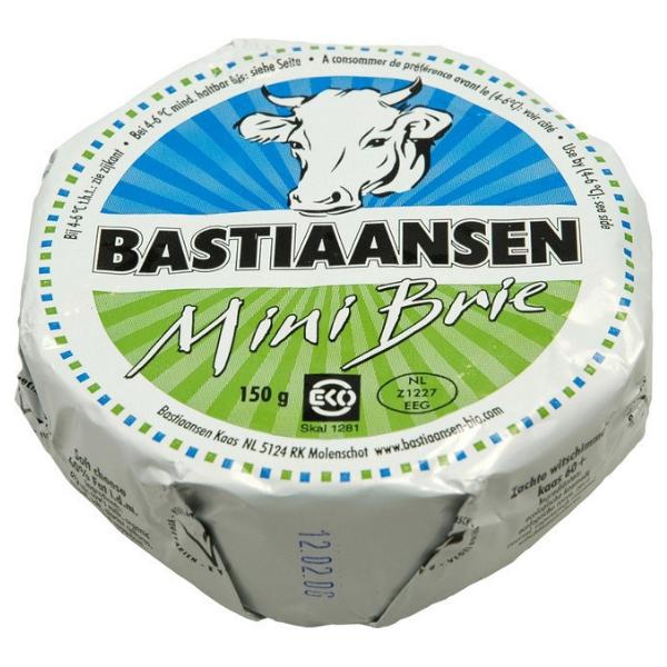 Βιολογικό Τύρι Brie Αγελαδινό Mini, 150 γρ., Bio, Bastiaansen