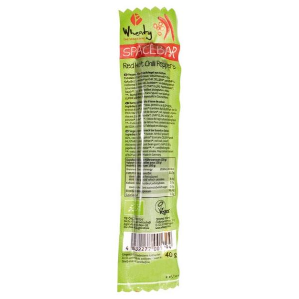 Βιολογικό Φυτικό Λουκάνικο Hot Chilly Paper, 40 γρ., Bio, Wheaty