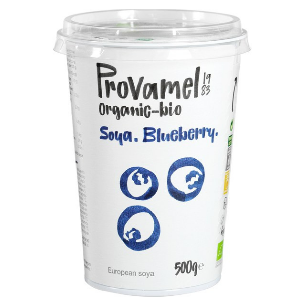 Βιολογικό Φυτικό Επιδόρπιο Σόγιας Blueberry, 500 γρ., Bio, Provamel