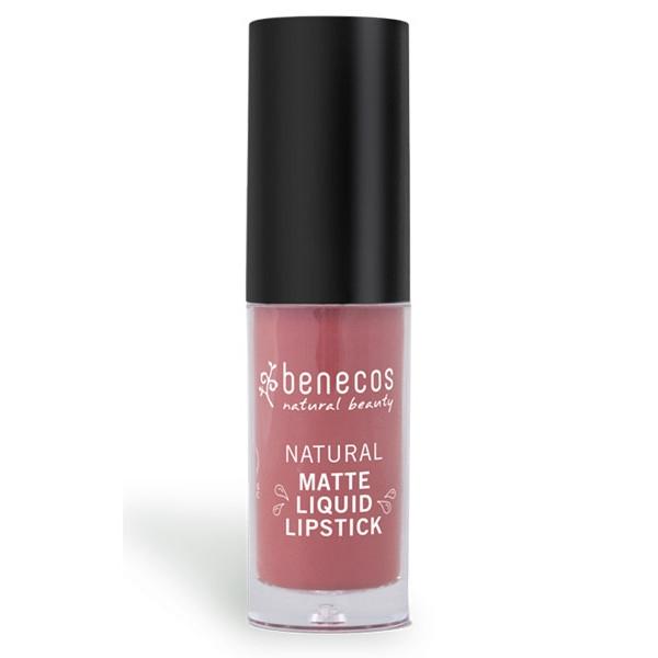 Matt Liquid Lipstick Rosewood Romance 5ml, Benecos