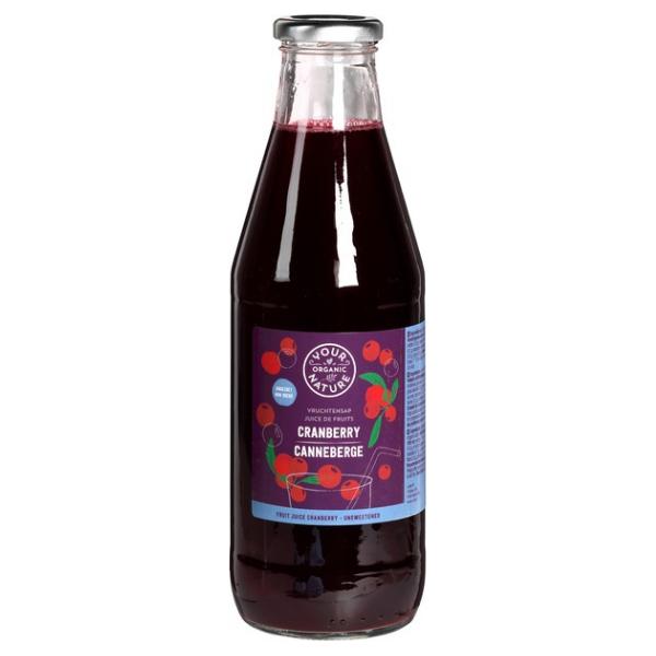 Βιολογικός Χυμός 100% Cranberry, 750 ml, YOUR ORGANIC NATURE