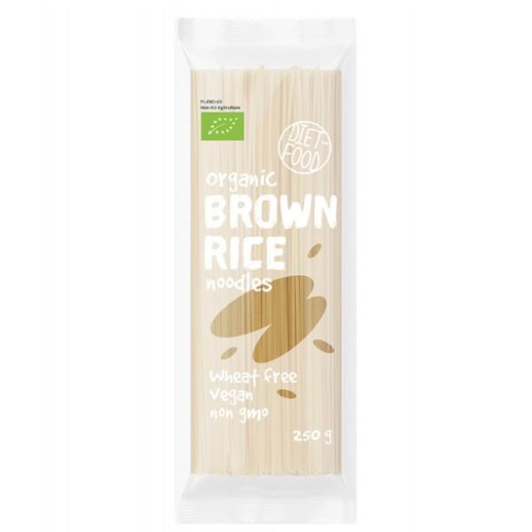 Βιολογικά Noodles Από Καστανό Ρύζι, 250γρ, Vegan, Bio, Diet Food