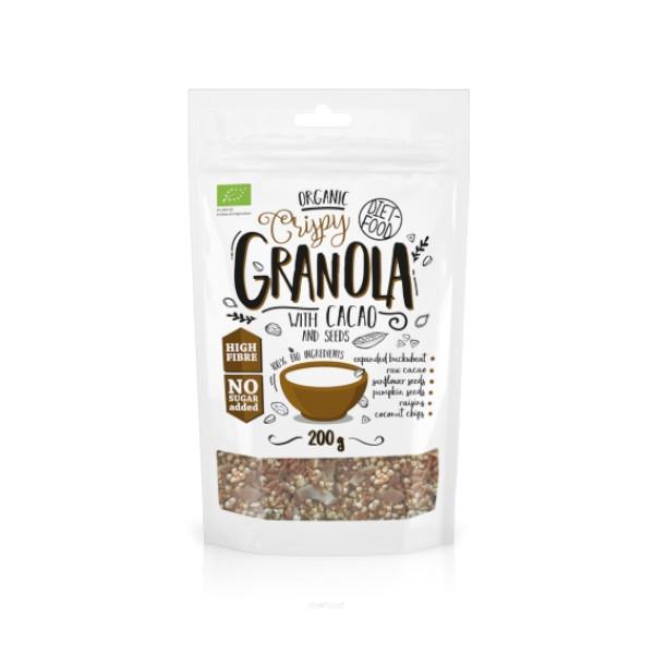 Granola με Κακάο 200γρ, Κέτο, Bio, Vegan, Diet Food