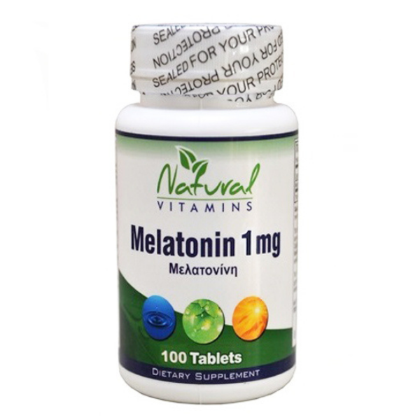 Melatonin, 100 Υπογλώσσιες Ταμπλέτες, Natural Vitamins