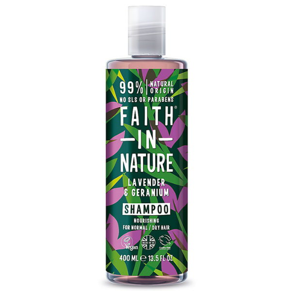 Σαμπουάν με Λεβάντα & Γεράνι, 400 ml, Faith in Nature