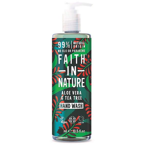 Υγρό Σαπούνι Χεριών με Βιολογική Αλοή & Τεϊόδεντρο,300ml, Faith In Nature