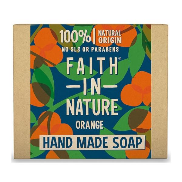 Σαπούνι Μπάρα Χεριών Πορτοκάλι 100gr, Bio, Faith In Nature