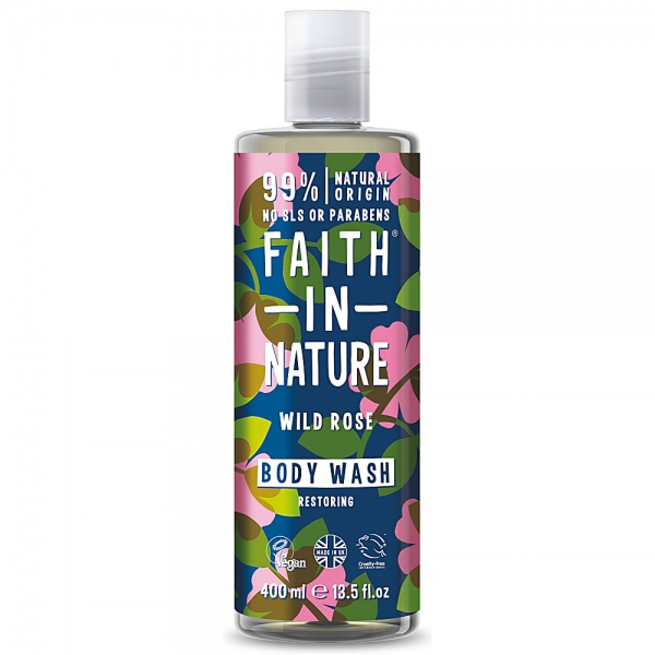 Faith in Nature Αφρόλουτρο Βιολογικό Άγριο Τριαντάφυλλο 400 ml