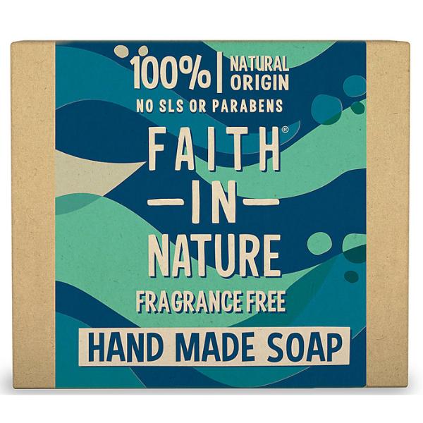 Σαπούνι Χεριών Μπάρα Χωρίς Άρωμα, 100gr, Faith In Nature