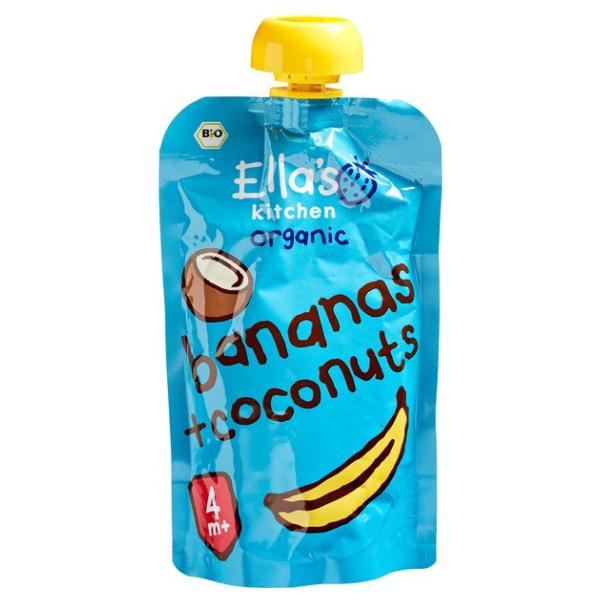 Βιολογικός Πολτός Μπανάνα Καρύδα, 120 γρ., Bio, Ella's Kitchen
