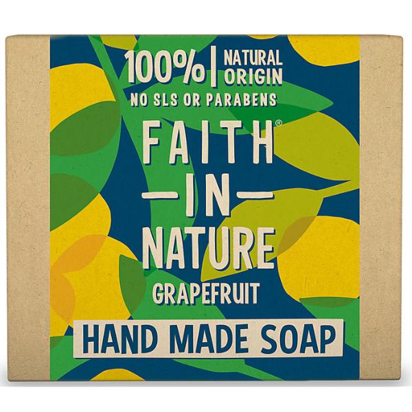 Σαπούνι Μπάρα με Γκρέιπφρουτ, 100gr, Faith In Nature