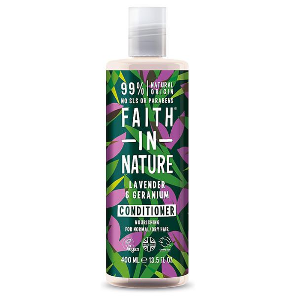 Faith in Nature Μαλακτική Κρέμα Μαλλιών Λεβάντα & Γεράνι 400 ml / Για κανονικό π