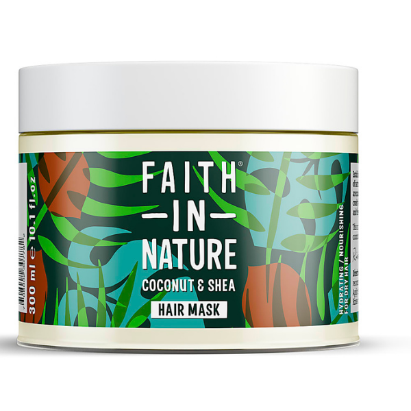Faith in Nature Μάσκα Μαλλιών Καρύδα & βούτυρο Καριτέ 300 ml