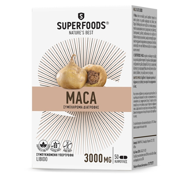 Maca 300mg 50 Kάψουλες, Superfoods