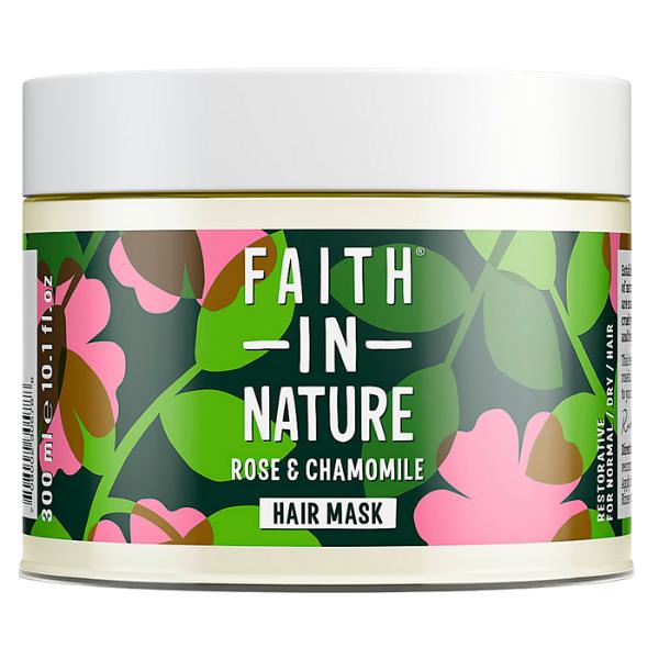 Faith in Nature Μάσκα Μαλλιών Τριαντάφυλλο & Χαμομήλι 300 ml