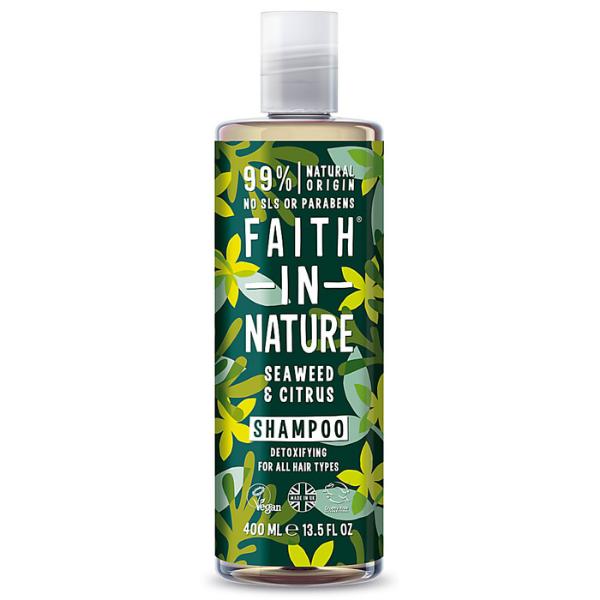 Σαμπουάν με Έλαια Κίτρων & Θαλάσσια Φυτά, 400 ml / Για όλους τους τύπους μαλλιών, Faith In Nature