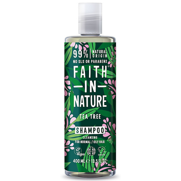 Faith in Nature Σαμπουάν έλαιο Τεϊόδενδρου 400 ml / για κανονικό προς λιπαρό τύπ