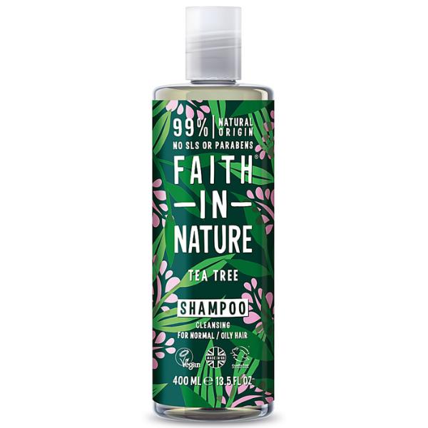 Σαμπουάν με έλαιο Τεϊόδενδρου, 400 ml / Για κανονικό προς λιπαρό τύπο μαλλιών, Faith In Nature