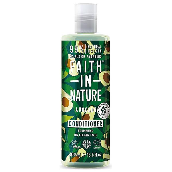 Μαλακτική Κρέμα Μαλλιών με Αβοκάντο, 400 ml / Για όλους τους τύπους μαλλιών, Faith In Nature