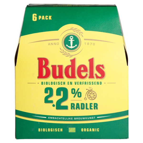 Βιολογική Μπύρα με 2,2% Αλκοόλ, 6* 330 ml, Bio, Budels