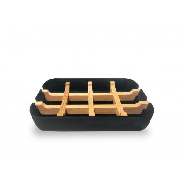 Bamboo Smiles Πιάτο Σαπουνιού από άμυλο Καλαμποκιού και Μπαμπού Μαύρο