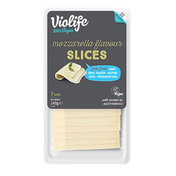 Φυτικό Τυρί με Γεύση Μοτσαρέλα σε Φέτες, 140 γρ., Violofe