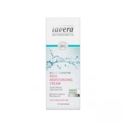 Lavera Ενισχυμένη Κρέμα Προσώπου 50 ml Basis Sensitive, Βιολογική