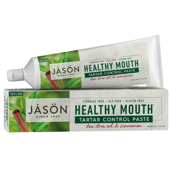 Oδοντόκρεμα με Τεϊόδενδρο Healthy Mouth, χωρίς Φθόριο, 119 γρ., Jason