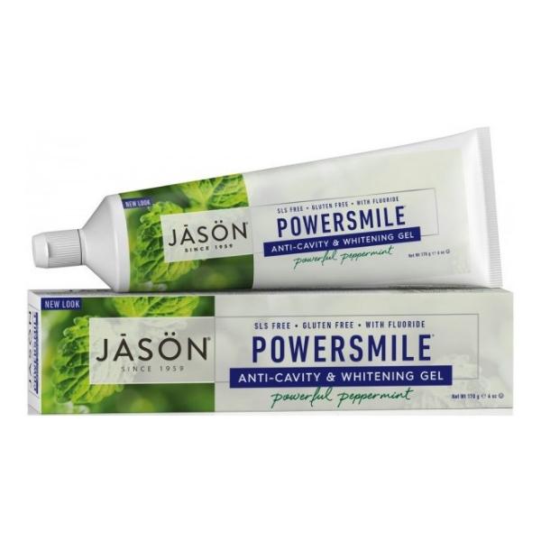 Οδοντόκρεμα σε Τζελ για Λεύκανση Powersmile, με Φθόριο, 170 γρ., Jason