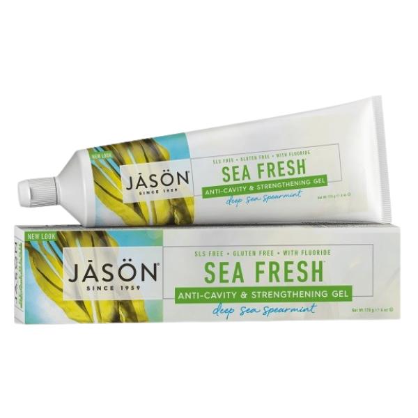 Οδοντόκρεμα σε Τζελ Sea Fresh, με Φθόριο, 170 γρ., Jason