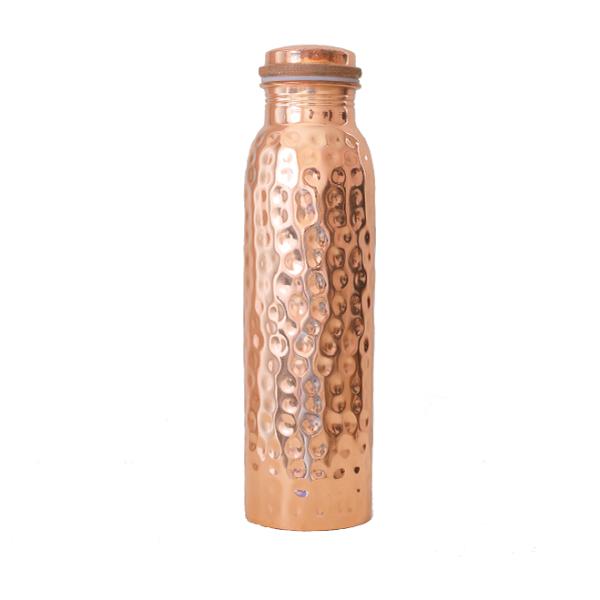 Σφυρήλατο Χάλκινο Μπουκάλι Νερού, 900ml, We love the planet