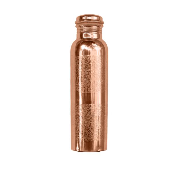 Σκαλιστό Χάλκινο Μπουκάλι Νερού, 900ml, We love the planet