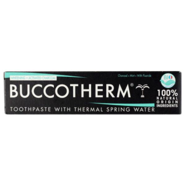 Οδοντόκρεμα Whitening & Act Charcoal, 75 ml, Buccotherm