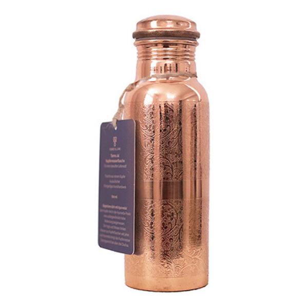 Σκαλιστό Χάλκινο Μπουκάλι Νερού (600ml)