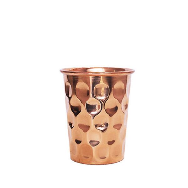 Χάλκινο Ποτήρι Νερού με όψη διαμαντιού (300ml)