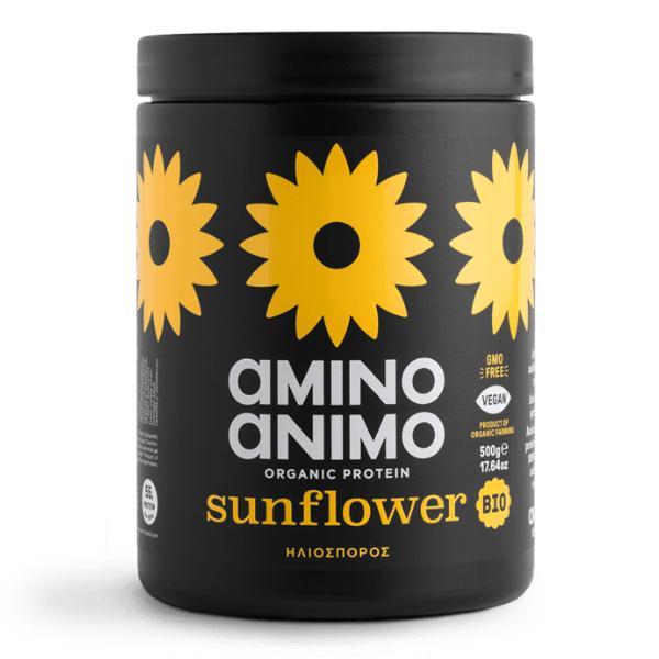 Βιολογική Πρωτεΐνη από Ηλιόσπορο, 500 γρ., Bio, Amino Animo