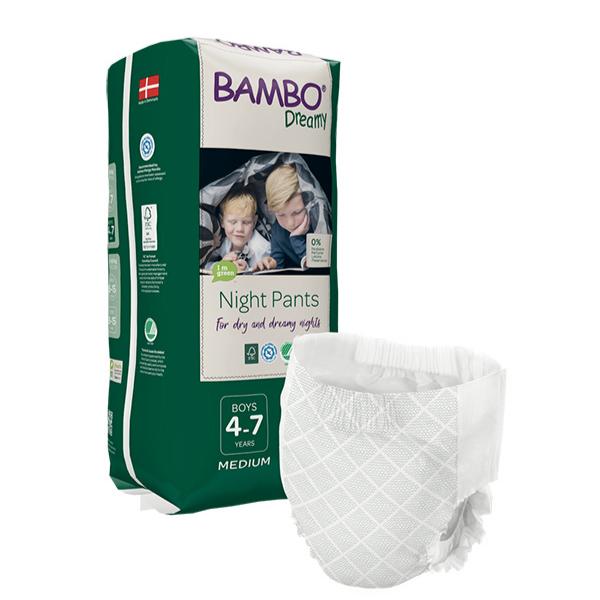 Παιδικό βρακάκι bambo dreamy 4-7y boy ,15-35kg, 10τεμ, bambo