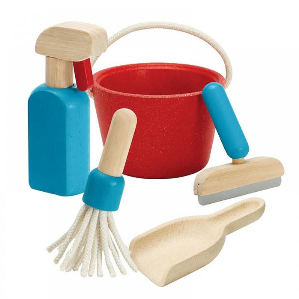 Σετ καθαριστικών, Plantoys, ξύλινο, οικολογικό, εκπαιδευτικό, παιχνίδι