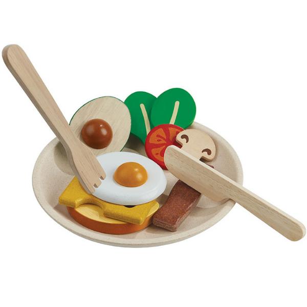 Πρωινό, Plantoys, ξύλινο, οικολογικό, εκπαιδευτικό, παιχνίδι
