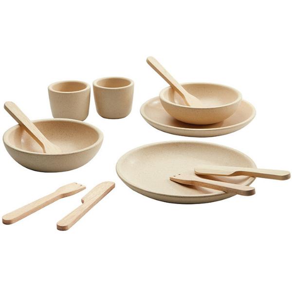 Σερβίτσιο φαγητού, Plantoys, ξύλινο, οικολογικό, εκπαιδευτικό, παιχνίδι