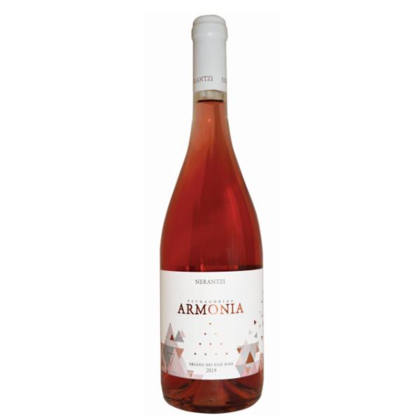 Βιολογικό Κρασί Ροζέ Αρμονία, 750 ml, Bio, Κτήμα Νεραντζή