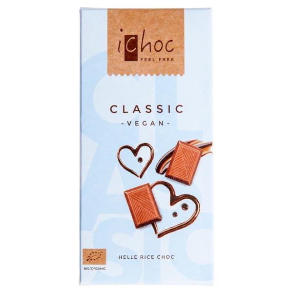 Βιολογική Σοκολάτα Ρυζιού Classic, 80γρ., Bio, Ichoc