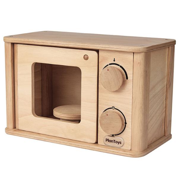 Φούρνος μικροκυμάτων, Plantoys, ξύλινο, οικολογικό, εκπαιδευτικό, παιχνίδι
