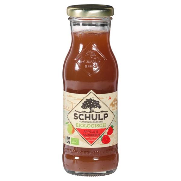 Βιολογικός Χυμός Μήλου & Φράουλας, 200ml, Bio, Schulp