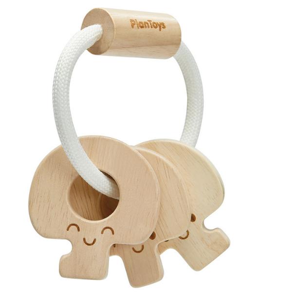 Κουδουνίστρα κλειδιά (φυσικό χρώμα), Plantoys, ξύλινο, οικολογικό, εκπαιδευτικό, παιχνίδι